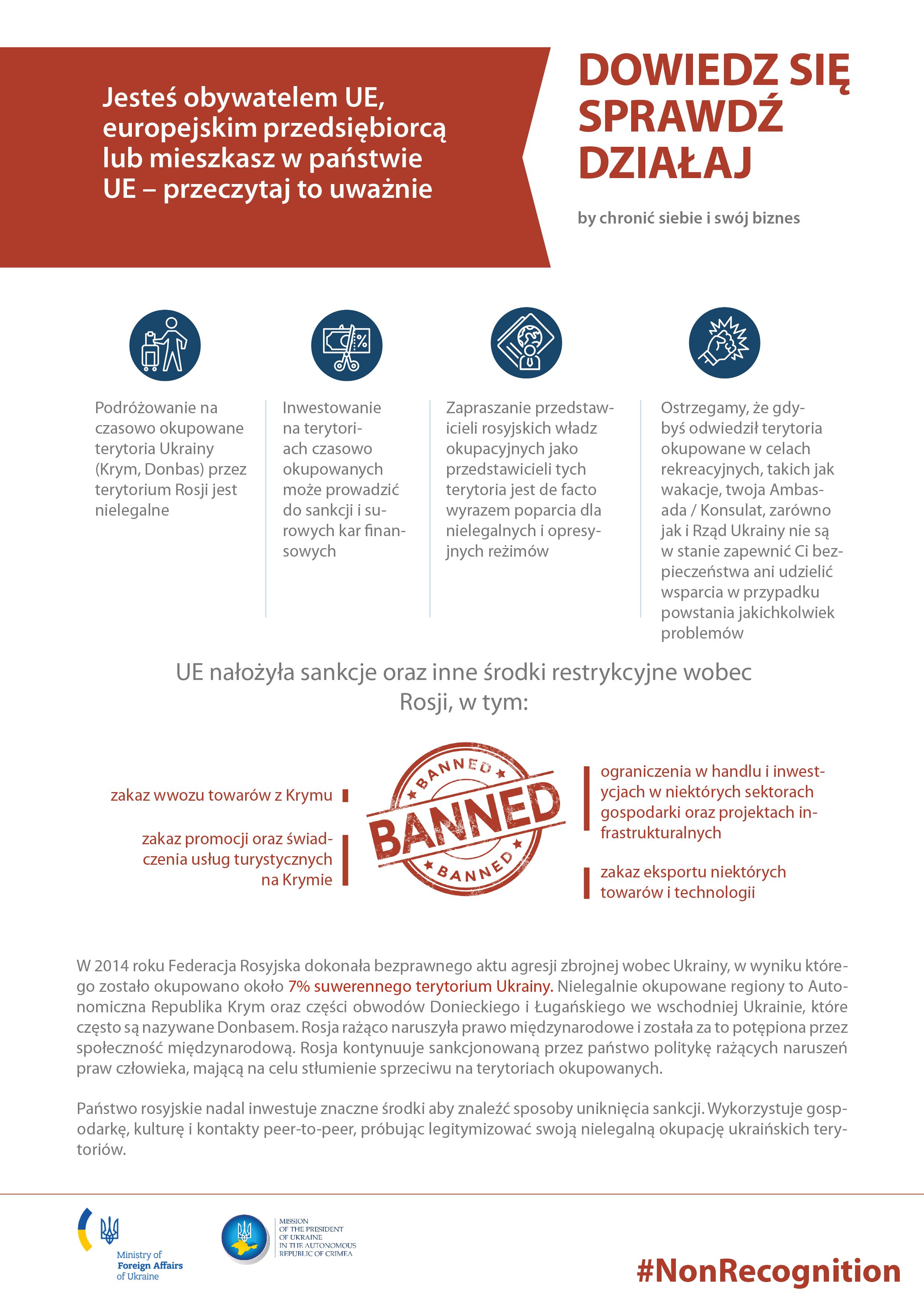 польща - #learncheckact: dowiedz się - sprawdż - działaj by uchronić siebie i swój biznes przed sankcjami